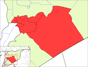 Map of the districts of Homs governorate in Syria.