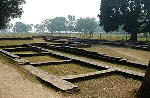Remains of some structures (houses or the Roya...