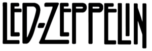 English: Wordmark of Led Zeppelin as found on ...