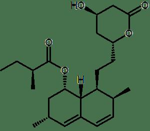 Lovastatin, a statin drug drawn in bkchem and ...