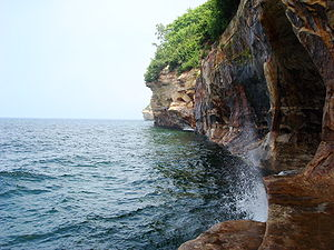 Cliffs near Mosquito River along the Pictured ...