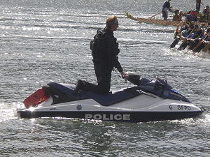 A San Francisco Police Department Jet Ski at t...