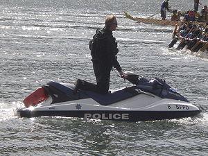 A San Francisco Police Department Jet Ski at t...