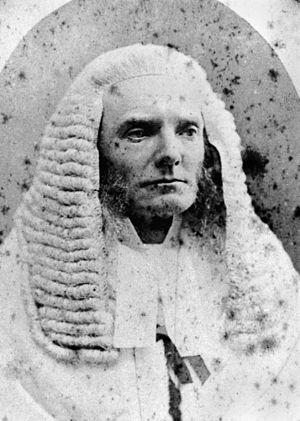 English: Mr. Justice Edmund Sheppard, ca. 1874...