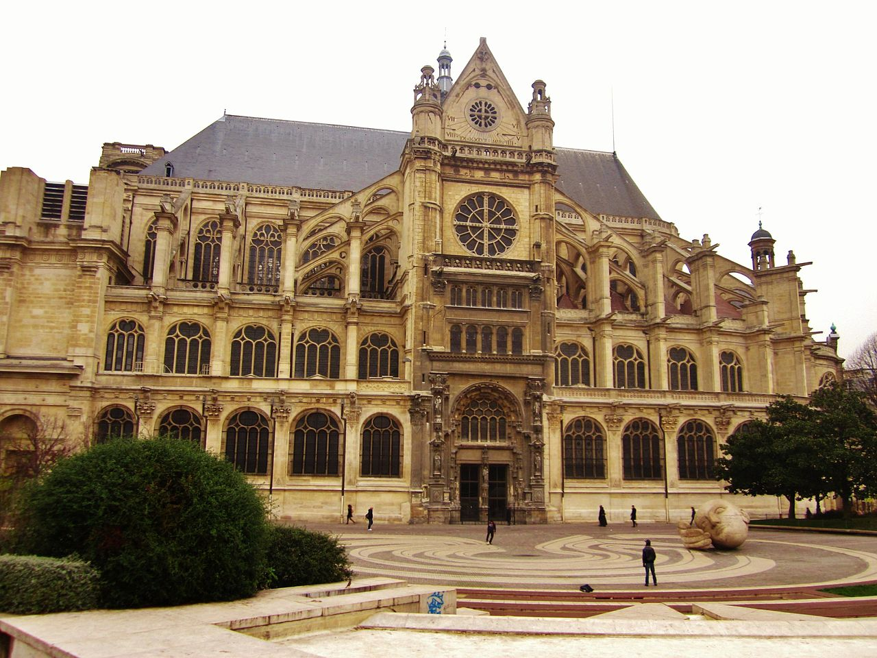 File 201 Glise Saint Eustache Paris Francia Jpg Wikimedia