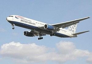 """British Airways Boeing 767, featuring """"De..."""