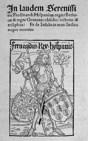 Image from the Basel 1494 edition of Columbus'...