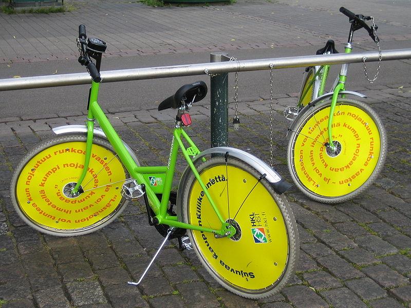 File:Helsinki city bikes.jpg