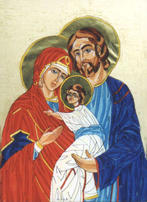 holy family icon by V.Lukan