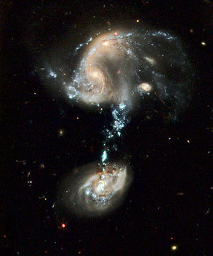 Arp 194. The third galaxy at the bottom of the...