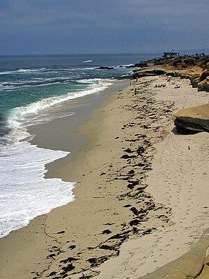 English: Wipeout Beach, La Jolla, CA.