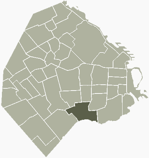 Location of Nueva Pompeya within Buenos Aires
