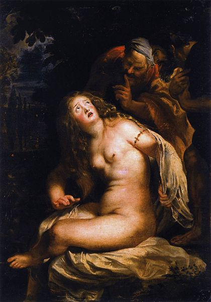 Susana and the Elders, by Peter Paul Reubens, 1607-1608
