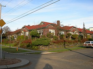 Garden apartments, Squire Park, Seattle, Washi...