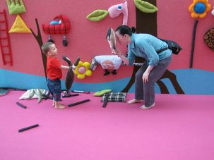 Temporary children's play area at the National Museum of Singapore - 20100626