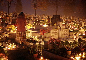 All Saints Day, 1st November 1984 in the Beski...