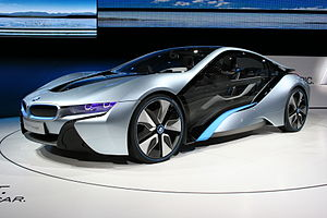 English: BMW i8 Concept at IAA 2011. View: fro...