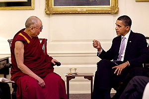 President Barack Obama meets with His Holiness...