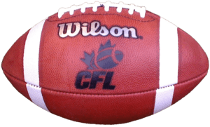 Canadian Football League ball with transparent...