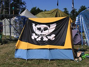 Tent with CCC pirate flag as seen on the Chaos...