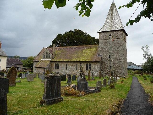All Saints' parish church, Norbury, Shropshire, seen from the north