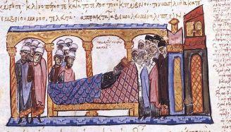 File:Constantine VII (Roman emperor), deathbed.jpg