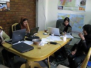 Female students at Kabul University.