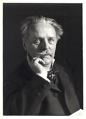 A portrait of the German writer Karl May by Er...