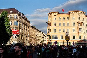 Mayday in Berlin-Kreuzberg Oranienplatz