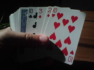 English: Playing cards.