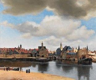 Johannes Vermeers Blick aufDelft, 1660/1661. Das Goldene Jahrhundert,de gouden eeuw, steht im historischen Gedächtnis der Niederländer für Wohlstand und Seemacht, für Kultur und Wissenschaft.