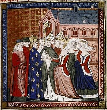 English: Wedding - Louis VII and Eleanor of Aq...