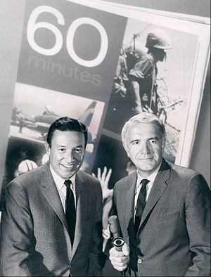 English: Publicity photo of Mike Wallace and H...