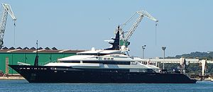 Luxury yacht Alfa Nero in Pula port