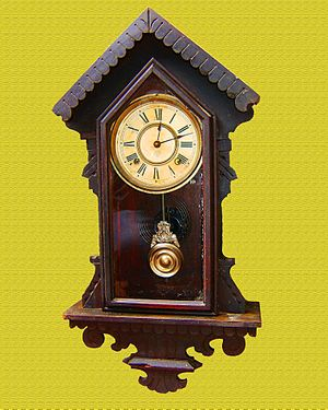 Español: Reloj de Péndulo Ansonia Clock Co. Mo...