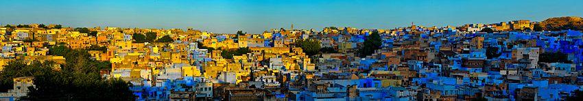 The Blue City of Jodphur at dusk.