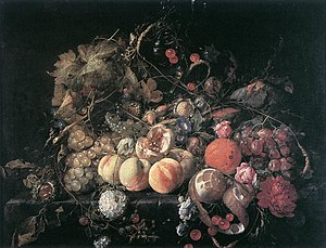 Cornelis de Heem - Still-Life with Flowers and...