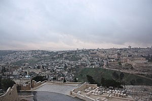 English: East Jerusalem from the Mount of Oliv...