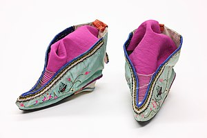Chinese shoes for bound feet, The Children's M...