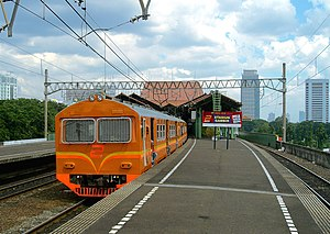 The upper platform of Gambir railway station, ...