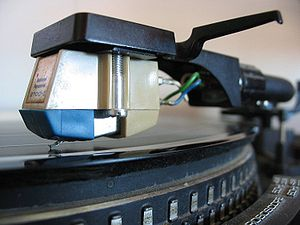A gramophone cartridge with stylus for use on ...