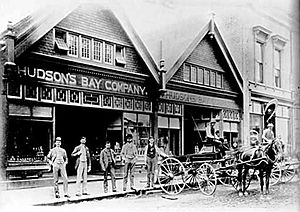 English: Hudson's Bay Company on Cordova Stree...
