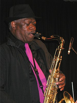 """English: Joe McPhee in concert with """"A Tr..."""