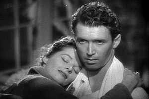 James Stewart and Katharine Hepburn in The Phi...