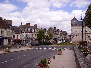 Rue Saint-Agnan. Pont sur le Nohain près du ci...
