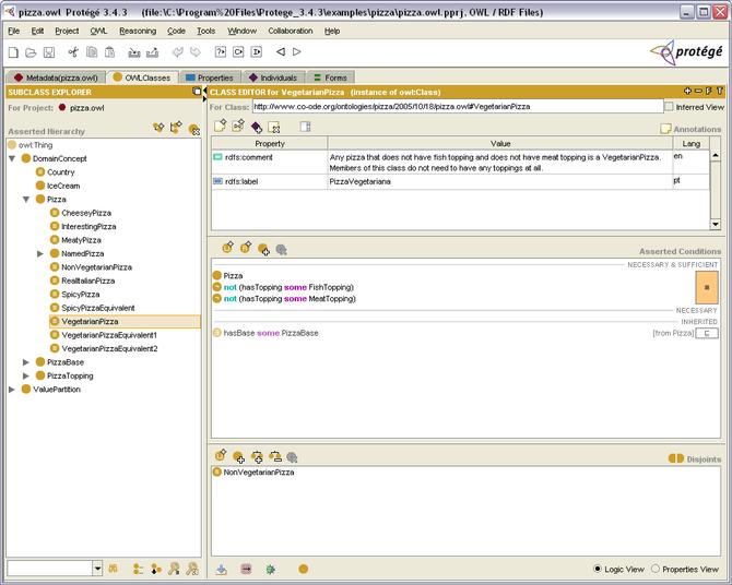 English: Protégé, an open source ontology edit...