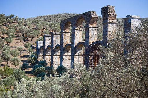 Roman Aqueduct in Mytilini (Lesbos), Greece