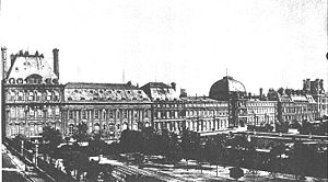 Tuileries Palace before 1871 - View from the T...