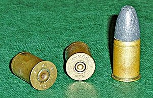 .455in SAA Ball ammunition.