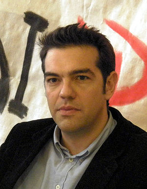 Alexis Tsipras in a press conference in Komoti...